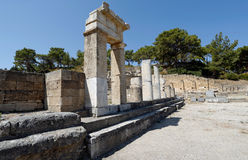 Kameriros, Dorian city, Rhodes ,Greece Royalty Free Stock Photo