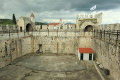 Kamerlengo castle in Trogir Royalty Free Stock Image
