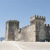 Kamerlengo slott, Trogir, Kroatien arkivbilder