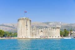 Kamerlengovesting Trogir, Kroatië - 19 Juli 2017 Royalty-vrije Stock Foto's