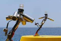 Kameror på skeppet Arkivfoto
