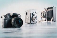 kameror tre Arkivfoton