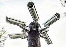 Kamery bezpieczeństwa Fotografia Royalty Free