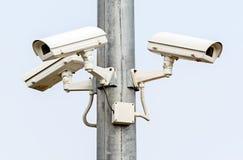 Kamery Bezpieczeństwa na Białym tle Obraz Stock