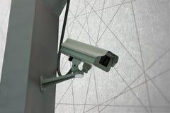 Kamery Bezpieczeństwa CCTV na schody abstrakta linii tle Zdjęcia Stock