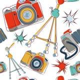 kamery bezszwowy deseniowy Obrazy Stock