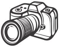 kamery cyfrowy ścisły Ilustracji
