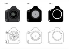 kamery dslr ikony profesjonalista Fotografia Stock