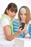 kamery dwa kobiety potomstwa Obraz Stock