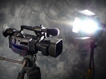 kamery działania światła Obrazy Royalty Free