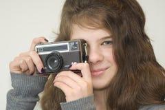 kamery dziecka dziewczyna Fotografia Royalty Free