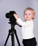 kamery dziecka studio Zdjęcie Royalty Free