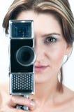kamery dziewczyna Zdjęcia Stock
