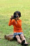 kamery dziewczyna Fotografia Royalty Free