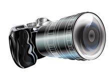 Kamery grafika Odizolowywa Fotografia Royalty Free