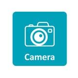 Kamery ikona dla sieci i wiszącej ozdoby Zdjęcia Stock