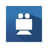 Kamery ikona w mieszkaniu Zdjęcie Stock