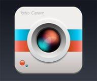 Kamery ikony obiektyw ilustracja wektor
