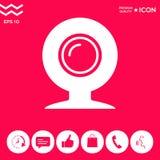 Kamery internetowej ikony symbol ilustracji