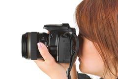 kamery kobieta Zdjęcie Stock