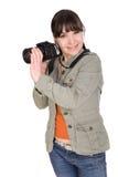 kamery kobieta Fotografia Stock