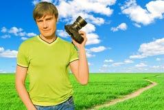 kamery mężczyzna natura Fotografia Stock