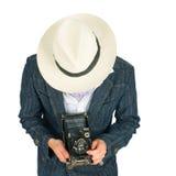 kamery mężczyzna retro stylowi potomstwa Obraz Stock