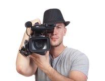 kamery mężczyzna wideo Obraz Royalty Free