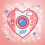 Kamery miłość ilustracji