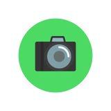 Kamery mieszkania ikona Round kolorowy guzik, fotografia wektoru kółkowy znak, logo ilustracja Zdjęcie Royalty Free