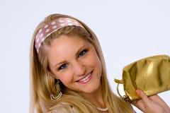 kamery modni uśmiechów kobiety potomstwa Obraz Stock