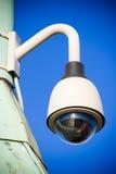 Kamery monitorowanie na nieba tle fotografia royalty free