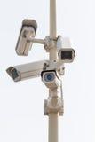 Kamery na słupie Zdjęcia Stock