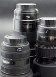 kamery obiektywów profesjonalista trzy Fotografia Royalty Free