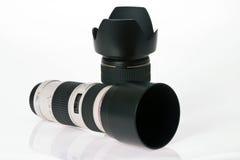 kamery obiektywu profesjonalista dwa Obrazy Royalty Free