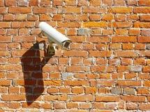 kamery ochrony ściana nadzoru pojęcia Fotografia Stock