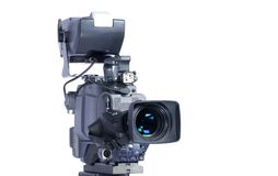 kamery profesjonalisty wideo Zdjęcia Royalty Free