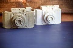 Kamery robić biały i szary gips zdjęcie royalty free