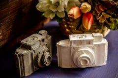 Kamery robić biały i szary gips fotografia royalty free