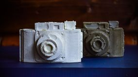 Kamery robić biały i szary gips zdjęcie stock