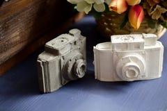 Kamery robić biały i szary gips obraz stock