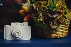 Kamery robić biały i szary gips zdjęcia stock