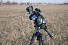 kamery tripod wideo Obrazy Royalty Free