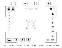 Kamery viewfinder pokaz Zdjęcie Stock