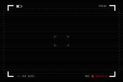 Kamery viewfinder Szablonu ogniskowania ekran kamera wideo ilustracja wektor