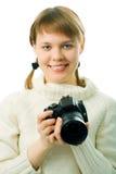 kamery zdjęcie kobiety Zdjęcie Royalty Free