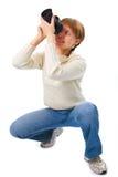kamery zdjęcie kobiety Obrazy Stock