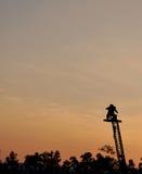 Kamerzysta ekranizacja na żurawiu obrazy royalty free