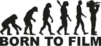 Kamerzysta ewolucja - Urodzona filmować ilustracja wektor