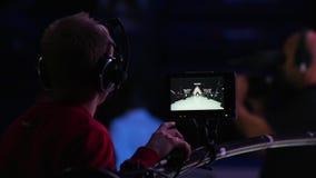 Kamerzysta filmuje wybieg zbiory wideo